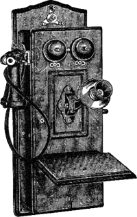 illustration of old fashioned telephone
